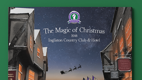 INgliston Coutnry Club & Hotel Brochure cover design